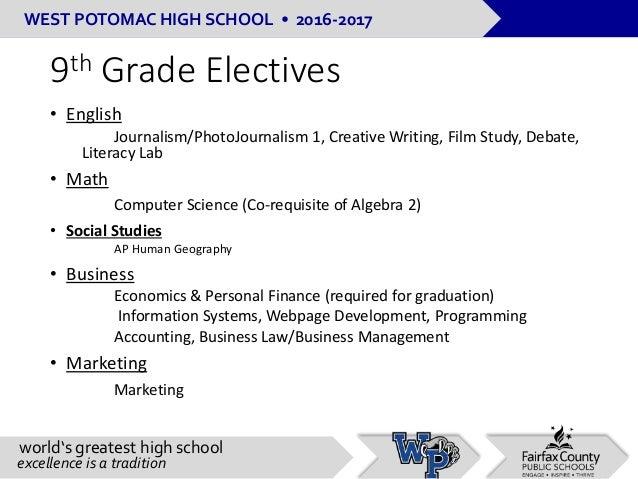 Rising 9th grade curriculum night presentation 1 11-17
