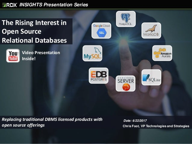 INSIGHTS Presentation Series The Rising Interest in Open Source Relational Databases Chris Foot, VP Technologies and Strat...