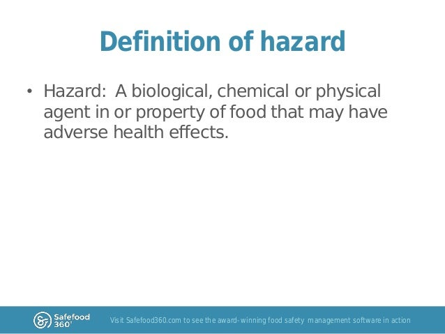 Physical Hazard In Food Definition