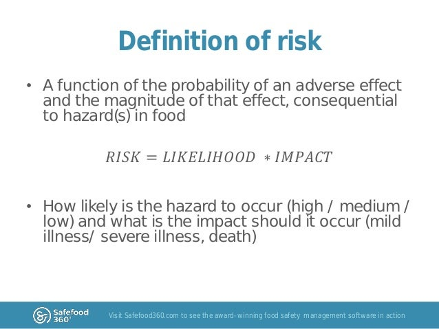 risk definitions Definition of risk: the quantifiable likelihood of loss or less-than-expected returns examples: currency risk, inflation risk, principal risk, country.