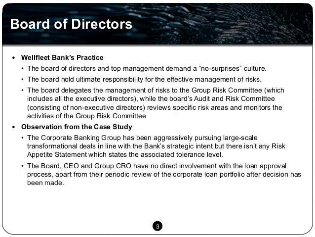 risk management at wellfleet bank essay Case solution & analysis for risk management at wellfleet bank: deciding about.