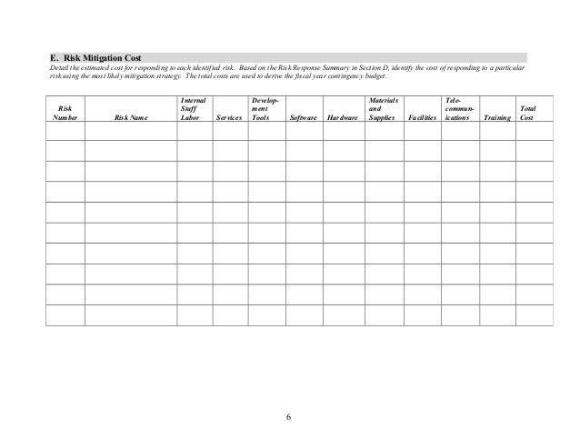 Risk managementplantemplate12 – Risk and Mitigation Template