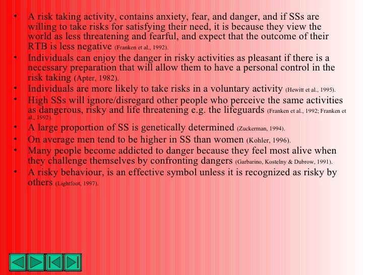 an introduction to risk and risk taking behaviors Risk – taking and entrepreneurship are two associated words studying in the  entrepreneurial literature  risk, risk – taking 1 introduction  although risk  bearing is an important element of entrepreneurial behavior, many entrepreneurs  have.