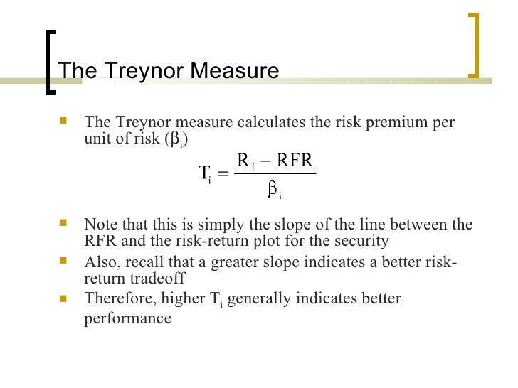 DEFINITION of 'Treynor Index'