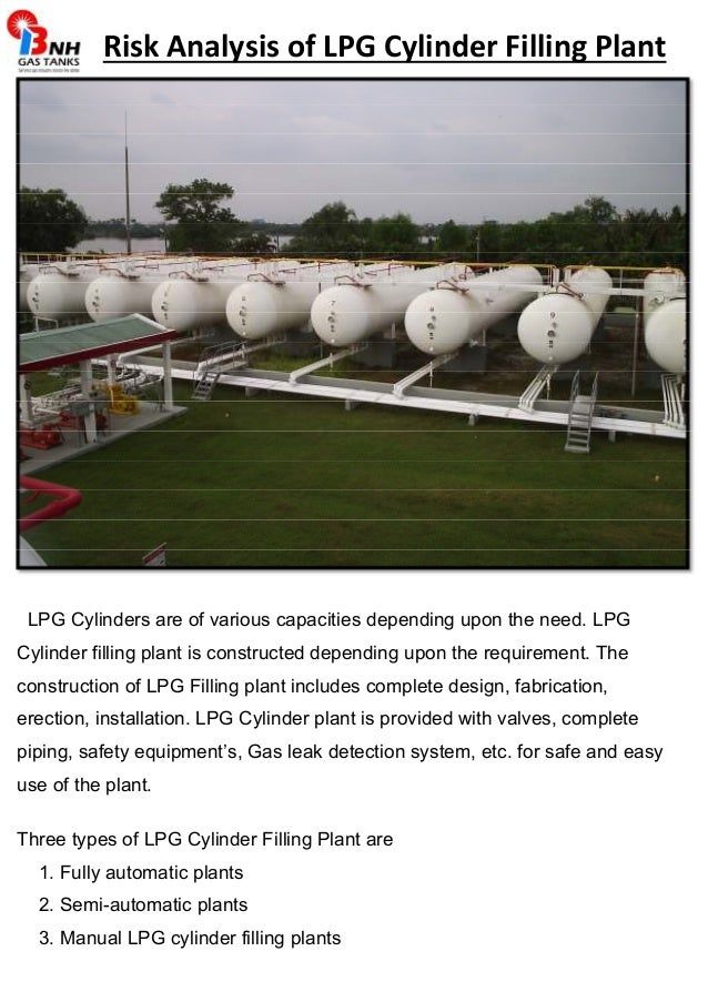 Risk analysis of lpg cylinder filling plant