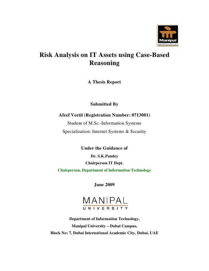 Risk Analysis on IT Assets using Case-Based                  Reasoning                         A Thesis Report            ...