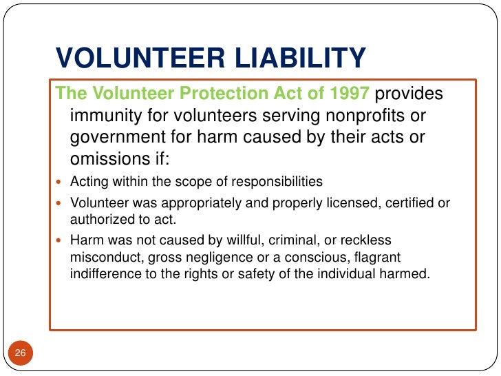 Risk Assessment- Protecting Your Organization and Volunteers