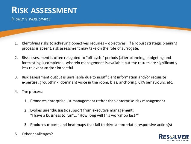 Improve Your Risk Assessment Process in 4 Steps