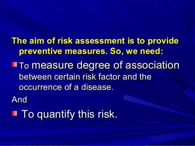 Risk assessment Slide 3