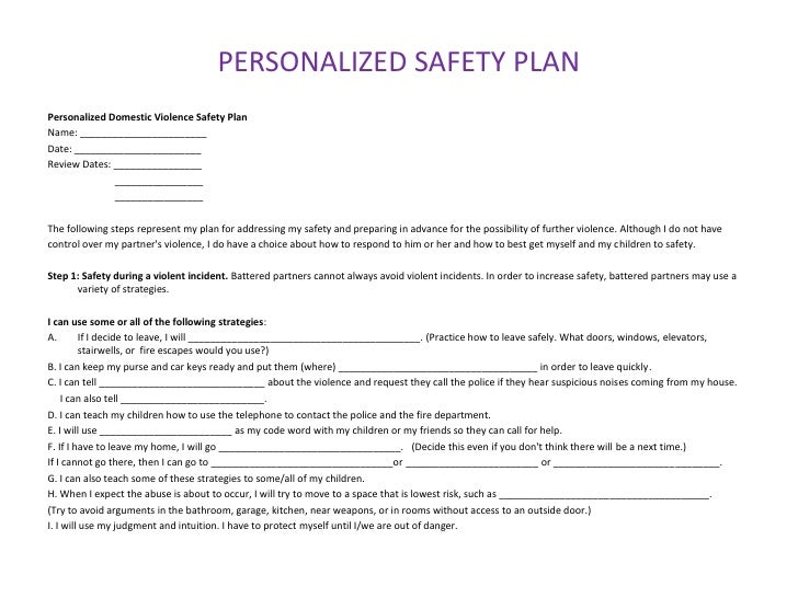Risk Assessment Safety Plans