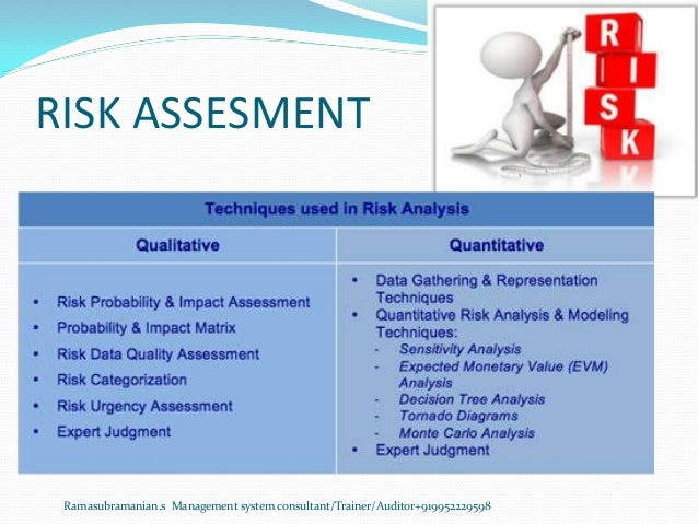 RISK ASSESMENT Ramasubramanian.s Management system consultant/Trainer/Auditor+919952229598