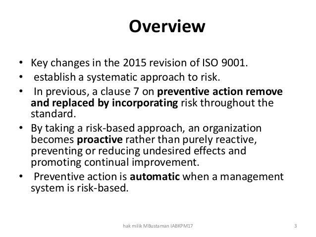 Risk based thinking in ms iso 9001 2015 Slide 3