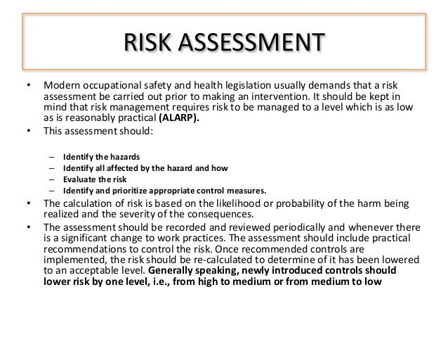 Risk Assessment and Inspections