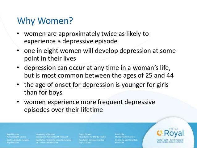 risk factors for depression in women