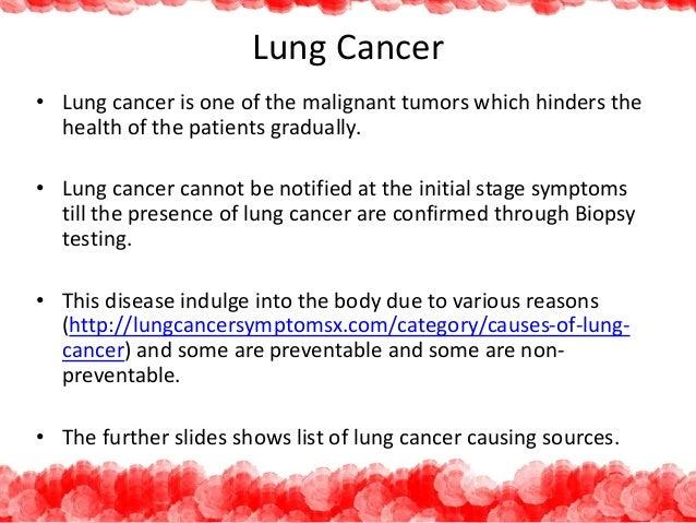Risk factors of lung cancer Slide 2
