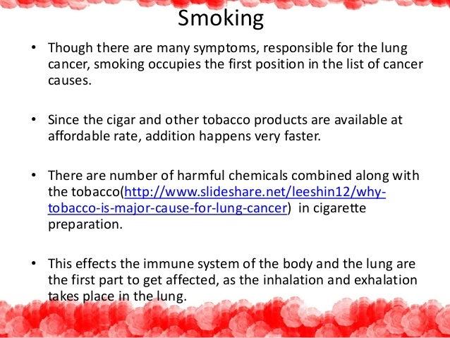 Risk factors of lung cancer Slide 3