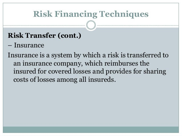 Insurance Is What Type Of Risk Management Technique
