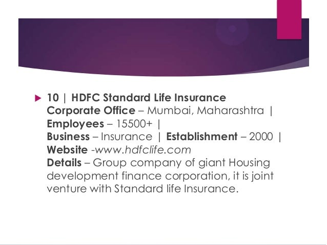 literature review of ulip of hdfc standard life insurance company Through a joint venture with european investment company standard life unit linked insurance plans by hdfc life offer hdfc has a ulip plan for.