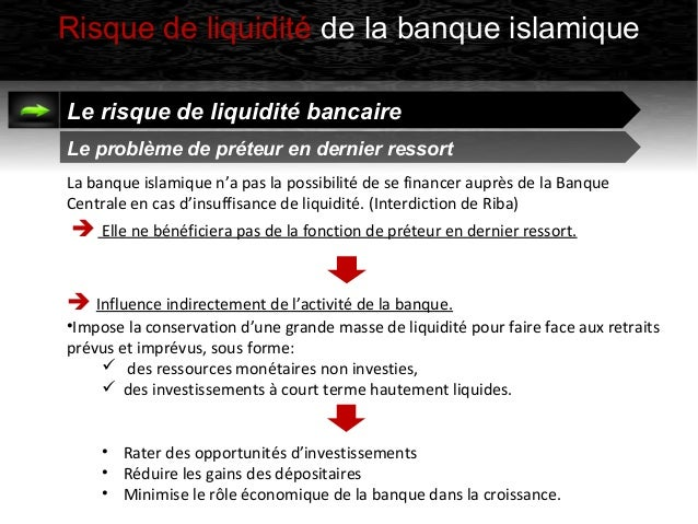 Le risque de liquidit des banques islamiques - Banque chaabi credit islamique ...