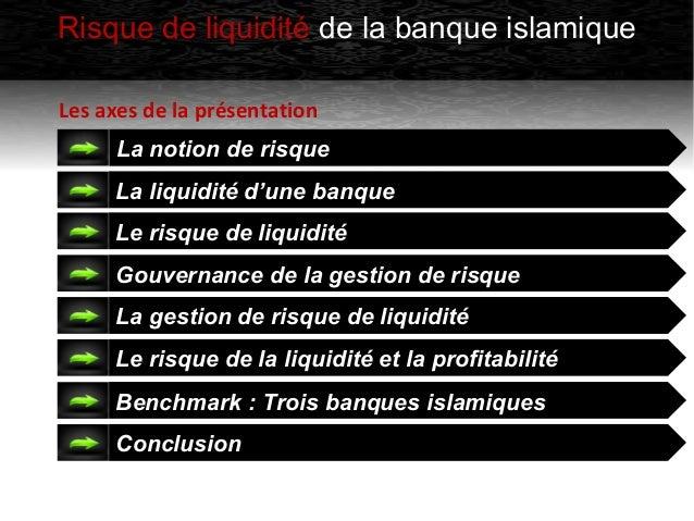 Le risque de liquidité des banques islamiques Slide 3