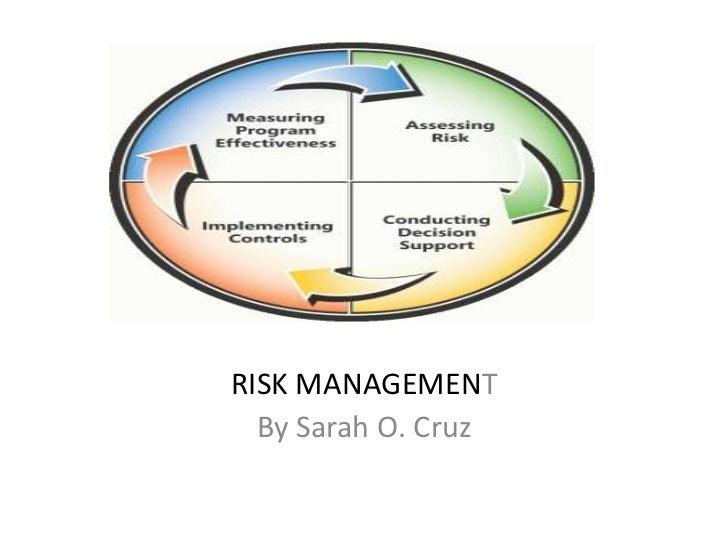 RISK MANAGEMENT  By Sarah O. Cruz