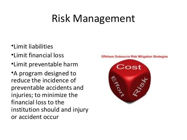 risk management function in healthcare organisation Quality management in the health care field ensures that patients receive an excellent provision of care it is a function that health care organizations (such as medical clinics and.