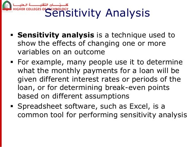 sensitivity analysis using excel Sensitivity analysis 2 posts / 0 new log in or register to post comments last linking sam inputs to a microsoft excel workbook for advanced analyses, you can configure simulations for optimization or sensitivity analyses before running simulations.