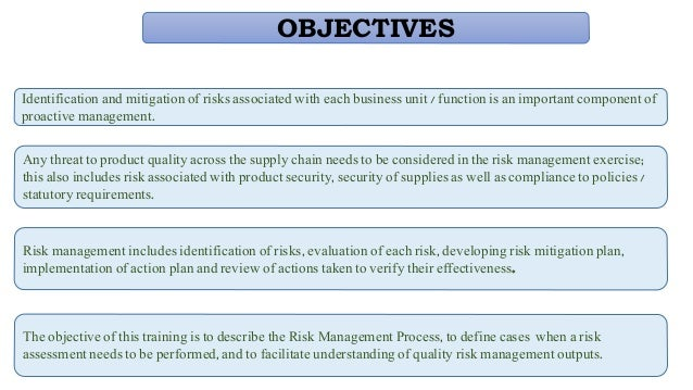 risk management in pharmaceutical industry