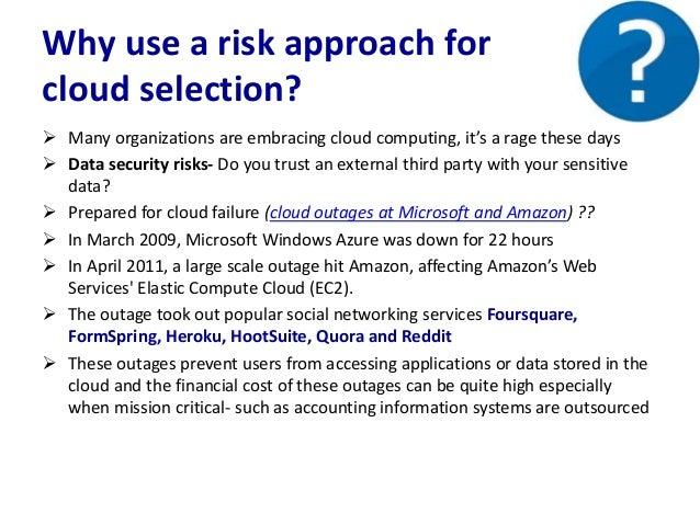 Cloud computing Risk management