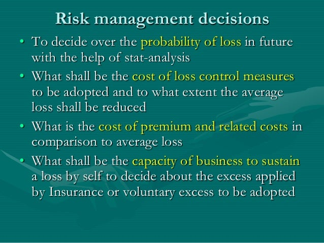 risk management in insurance sector Risk management for the insurance sector we have developed expertise in many areas of risk management to support insurance companies in meeting their goals.