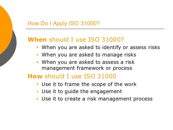 risk management process using iso 31000
