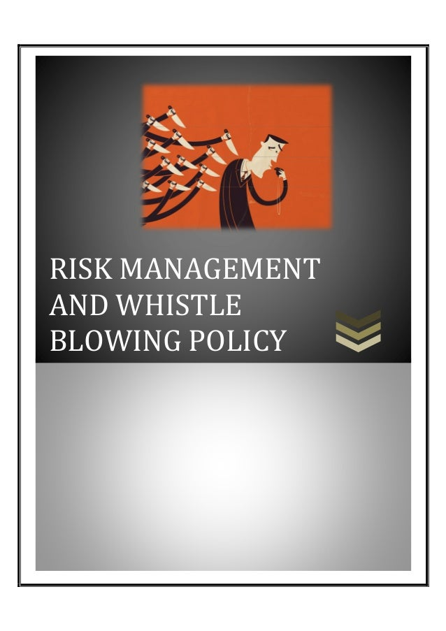 RISK MANAGEMENT AND WHISTLE BLOWING POLICY  111101111!111111