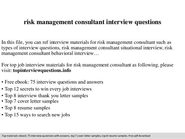 Captivating Risk Management Consultant Interview Questions In This File, You Can Ref  Interview Materials For Risk ...