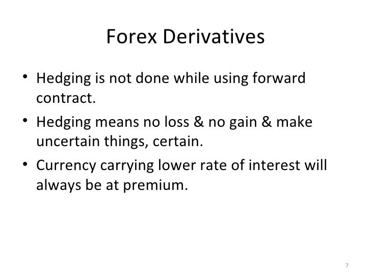 Forex derivative