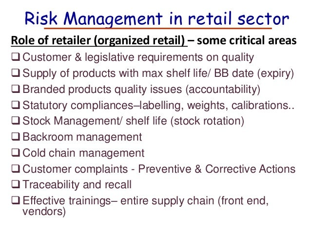 Compliance and Risk Management Software for the Retail Industry Organizations in the retail industry face unique challenges and risk when it comes to ethics and compliance. Retail companies often have workforces, capital and suppliers that are spread widely across the globe.