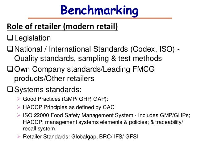Role Of Retailers For Food Safety Standards