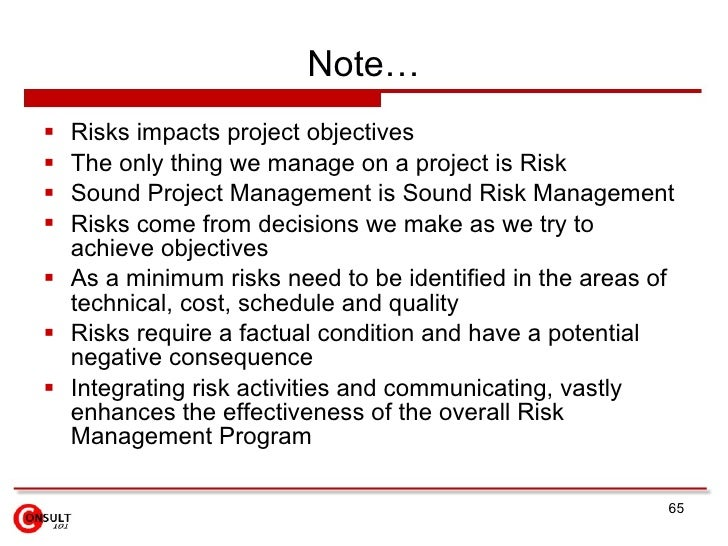 objectivity in risk management Risk management is the identification, evaluation, and prioritization of risks  followed by  objective setting, event identification, risk assessment, risk  response, control activities, information and communication, and monitoring.