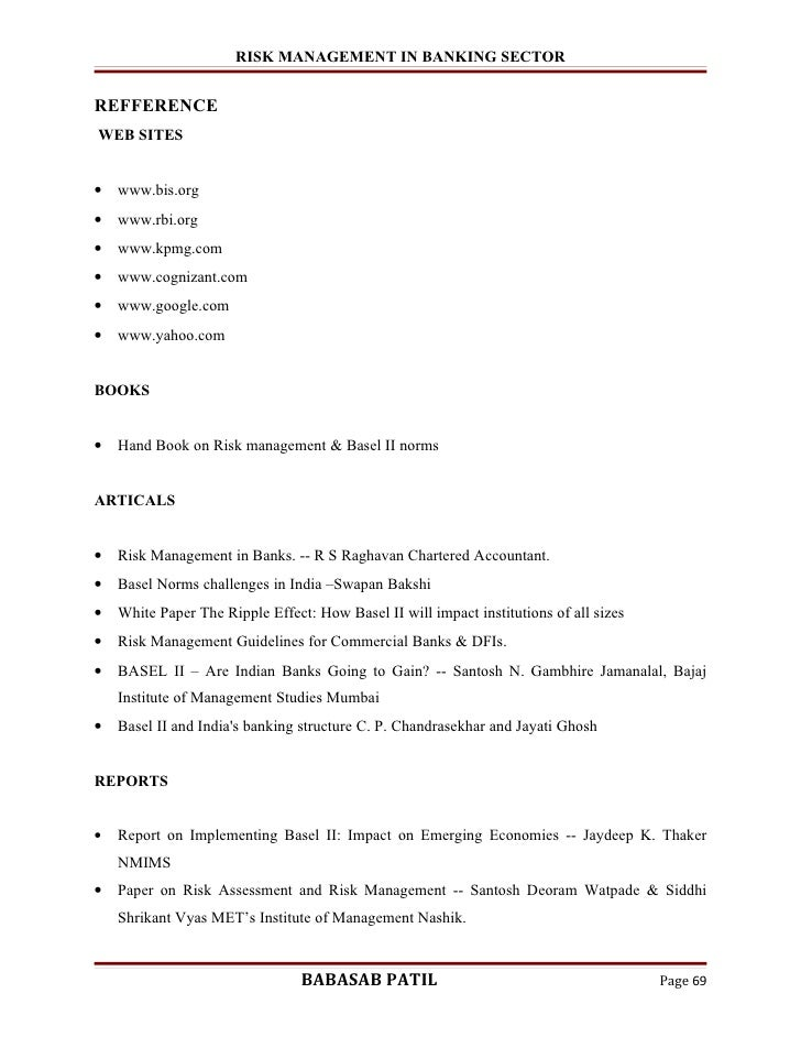 mba finance project pdf