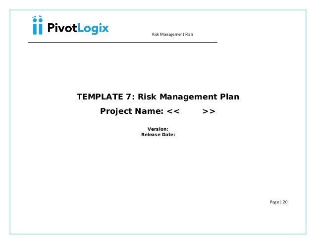 pmp risk management plan template. Black Bedroom Furniture Sets. Home Design Ideas