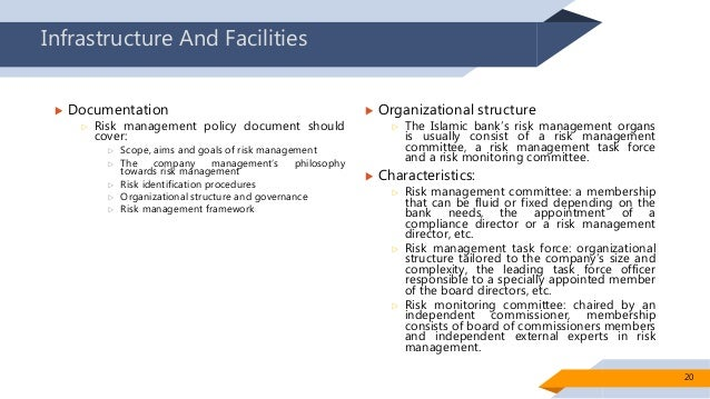 risk management policies if any 19 20