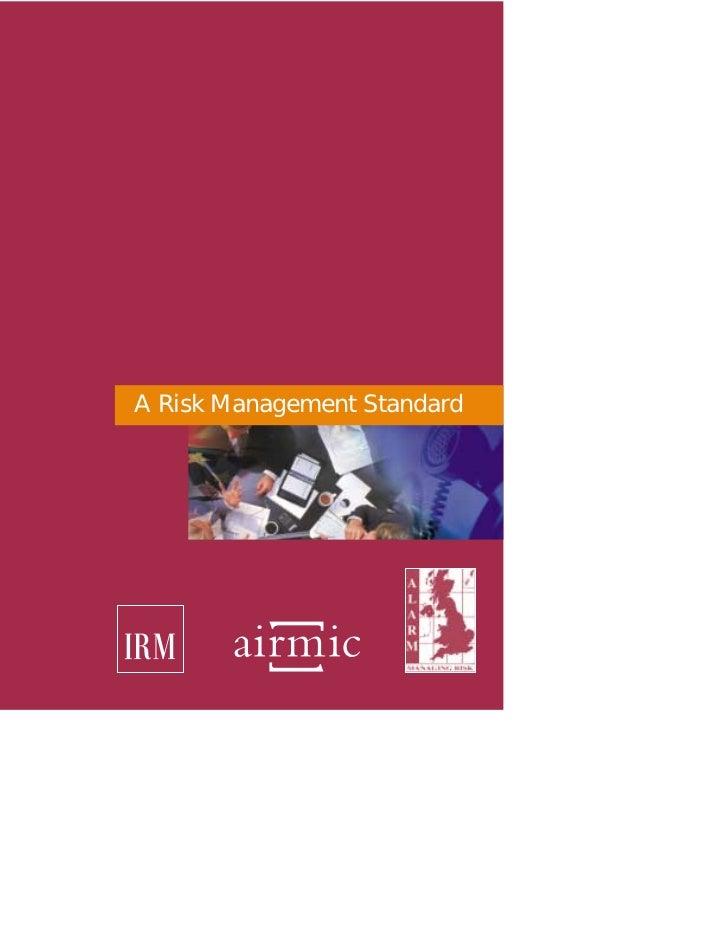 A Risk Management Standard