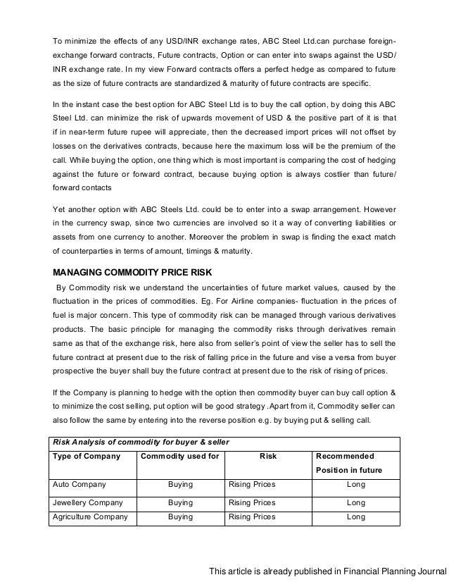 financial risk management journal pdf