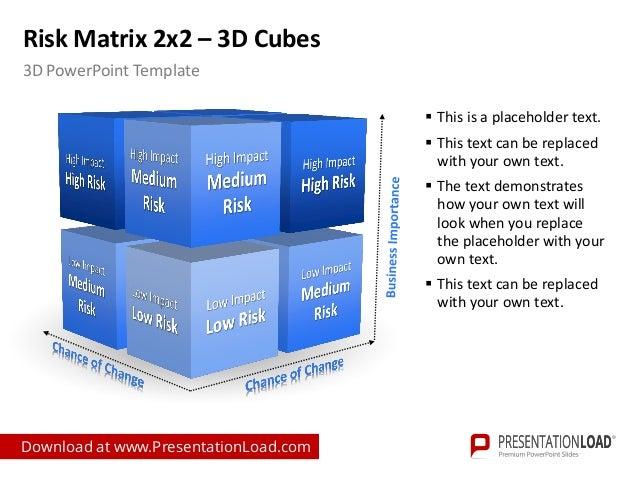 powerpoint risk matrix template, Modern powerpoint