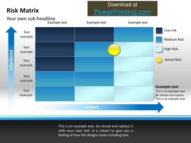Powerpoint Risk Matrix Slide 3