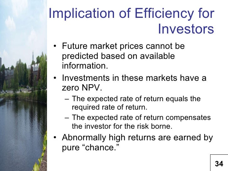 emh implication Review of the efficient market theory and evidence the efficient market hypothesis the implication of the emh for investors.