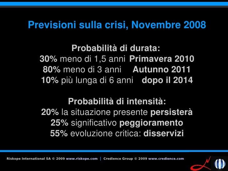 Previsionisullacrisi,Novembre2008                          Probabilitàdidurata:                  30%menodi1,5an...