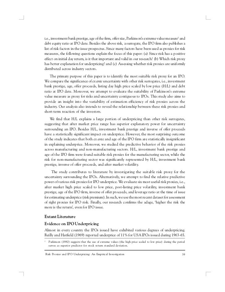 Industries and ipo underpricing tillburg