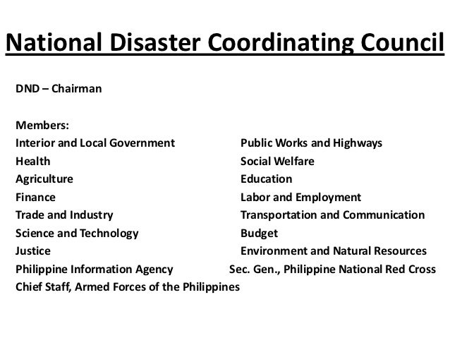 local disaster risk reduction management The philippine disaster risk reduction and management system may 27, 2010  institutionalize local disaster risk reduction &amp management office.