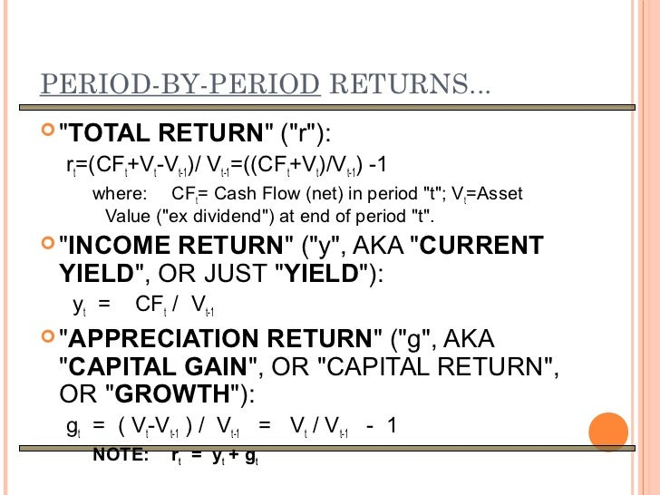 how to find total return