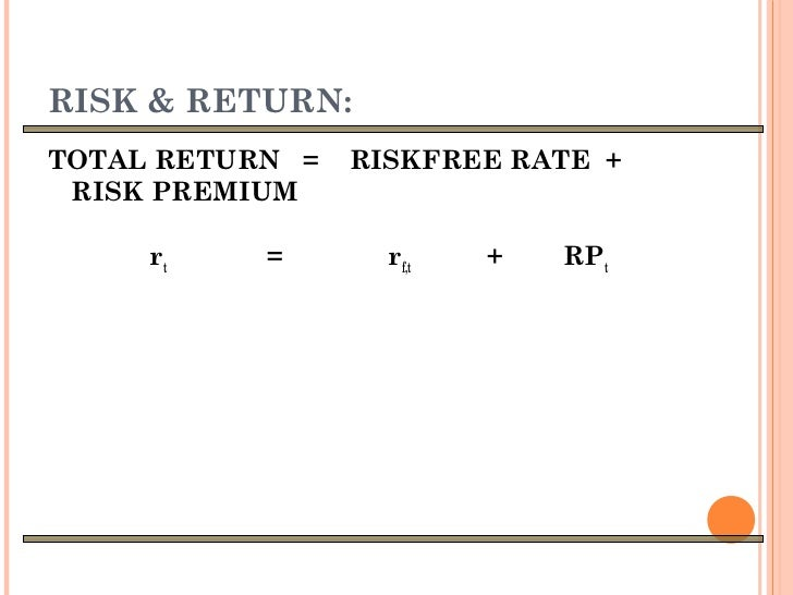 risk and return analyis and portfolio One problem with relative return analysis is that investors tend to compare  the  last method of evaluating portfolio returns is to evaluate risk-adjusted returns.